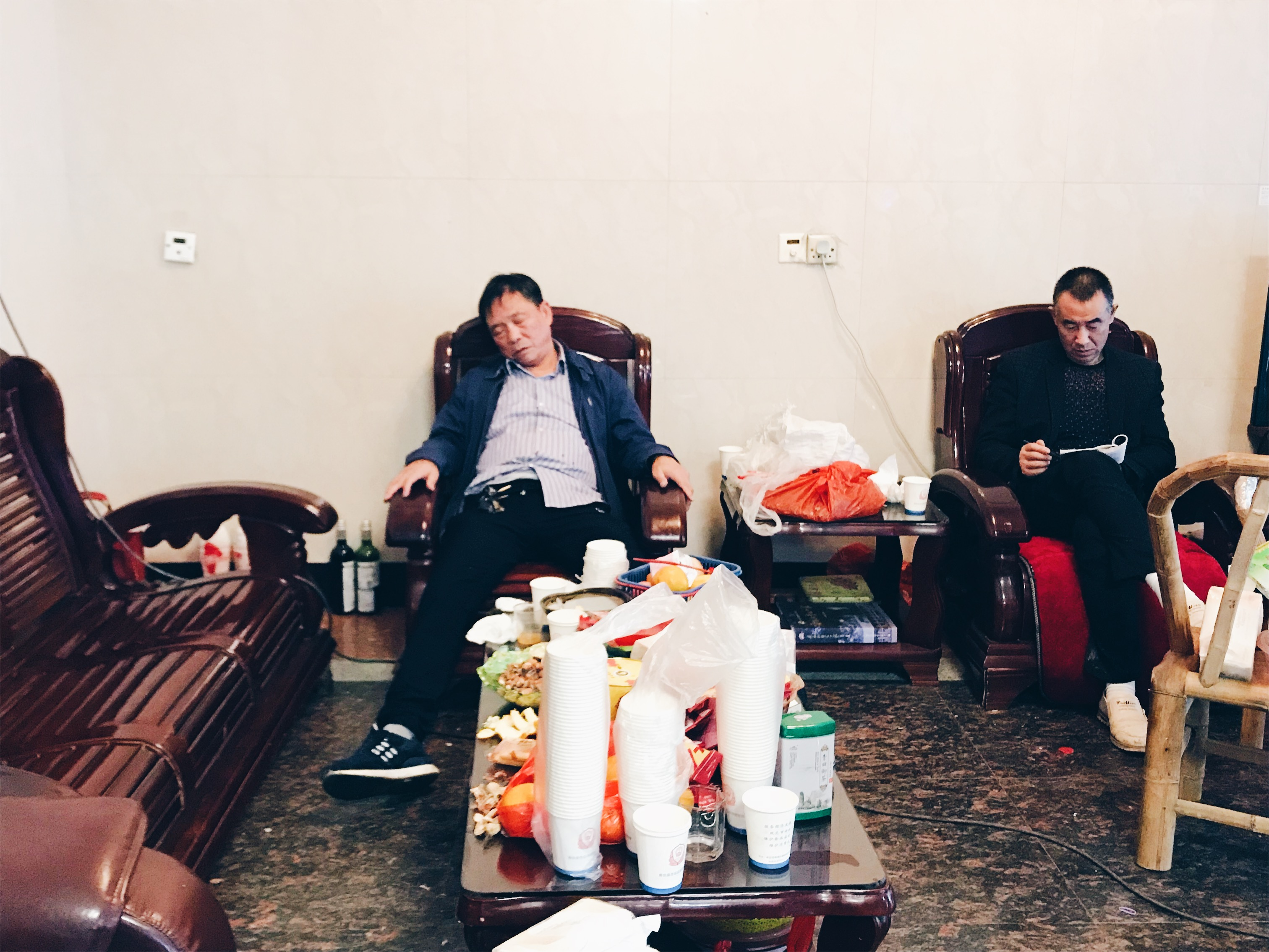Chinese funeral - exhaustion