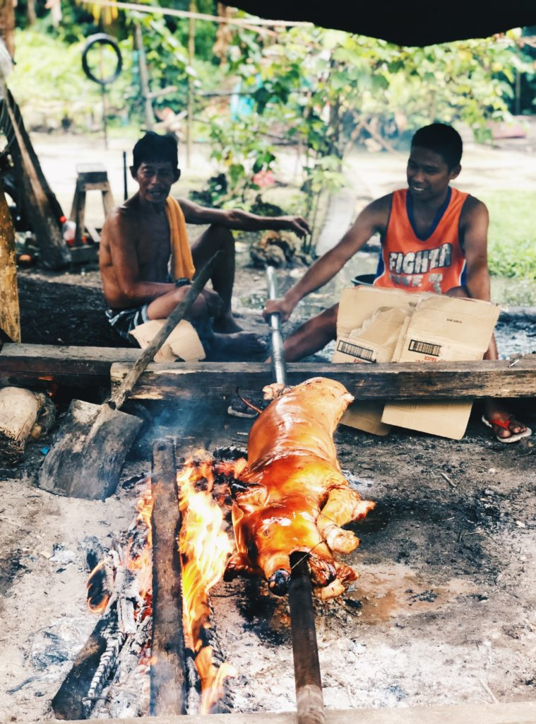 Lechon in the making - Siargao