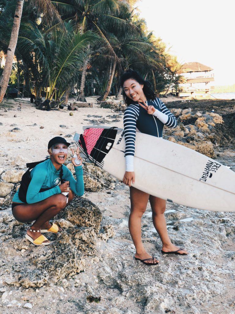 Surfer girls in Siargao Jacking Horse