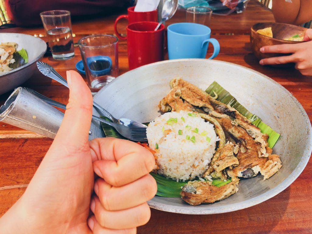 Eggplant Omelette breakfast at Sealog Siargao